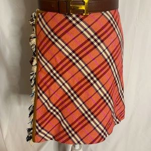Burberry Blue Label skirt with leather trim